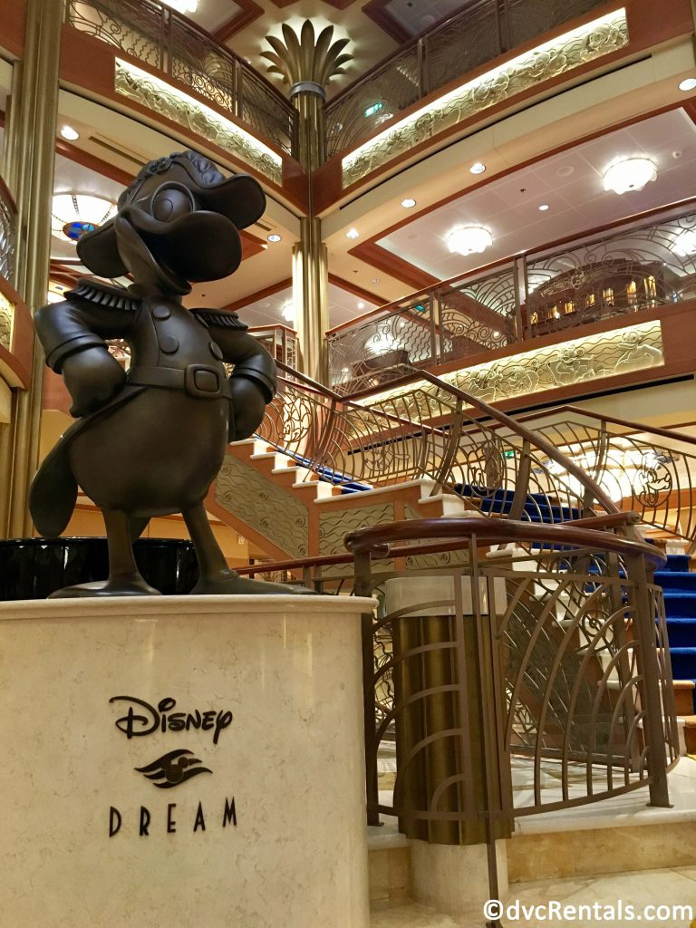 Statue of Donald Duck on the Disney Dream