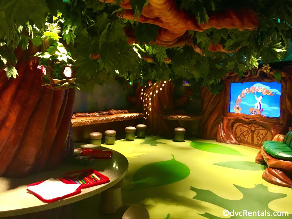 pixie hollow area on the Disney Dream