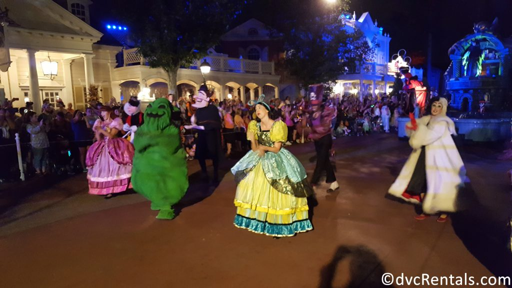 Disney Villains in the Boo To You Parade