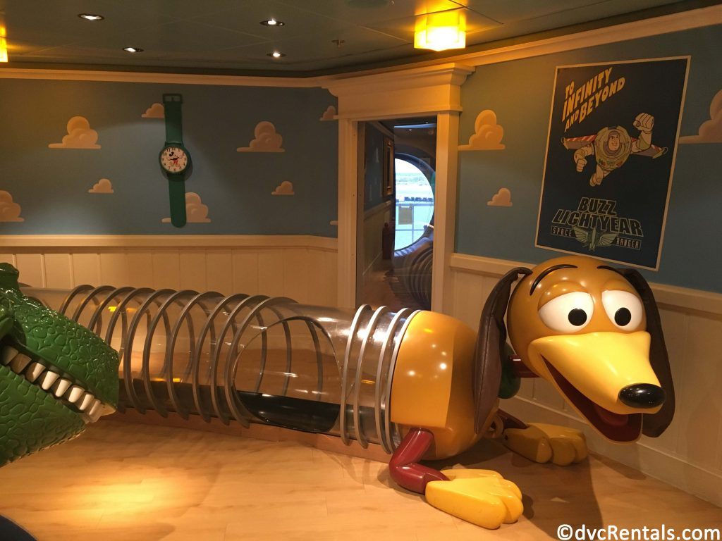 Andy's room play area on the Disney Dream