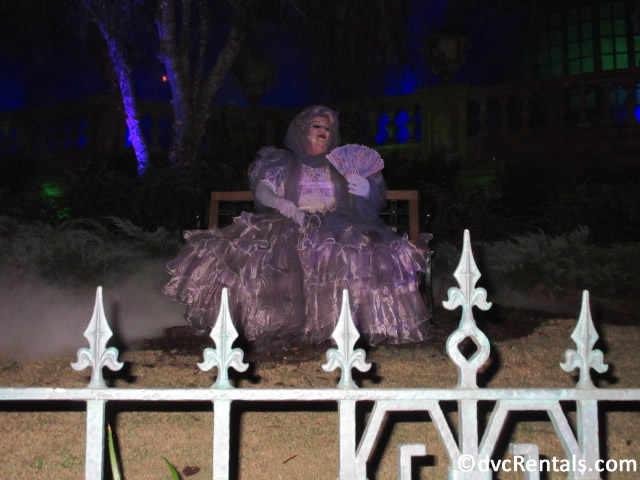 Ghost outside of the Haunted Mansion