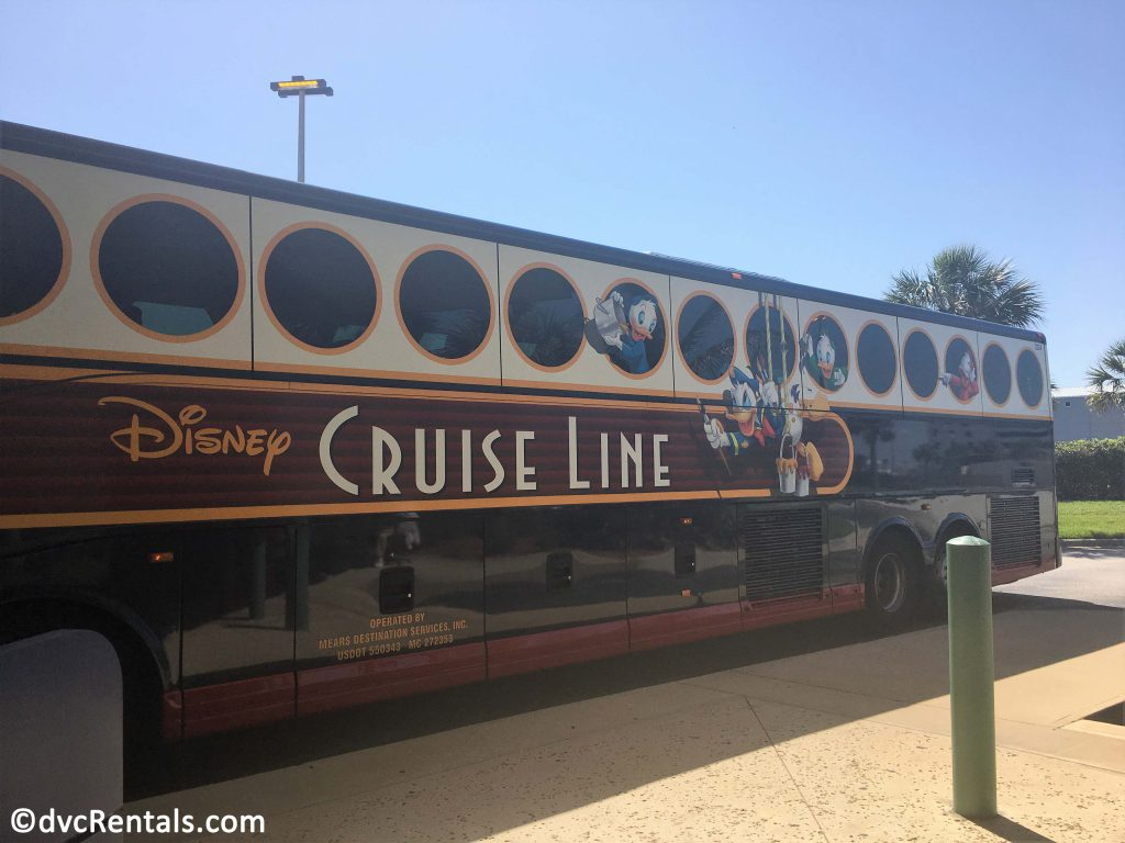 Disney Cruise Line bus photo