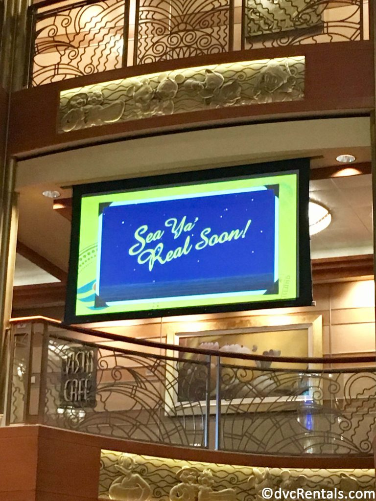 Sea Ya Real Soon sign from the Disney Dream