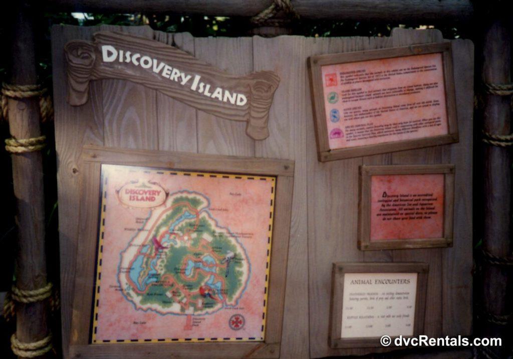 Discovery Island display board