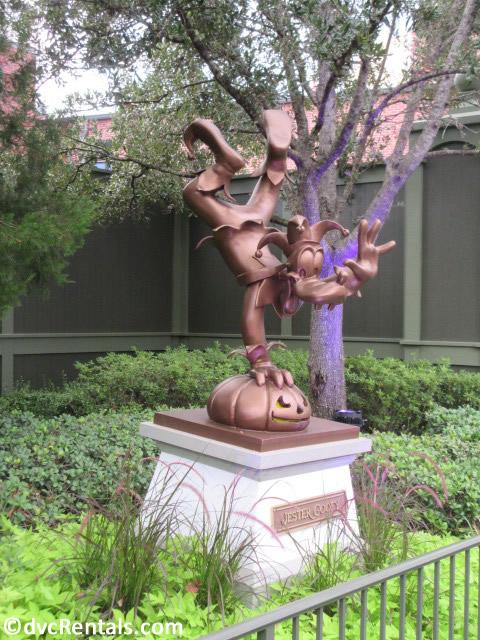 statue of Jester Goofy