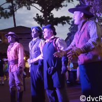 Cadaver Dans performing in Frontierland