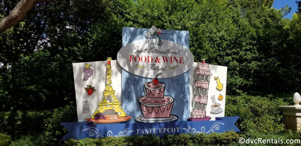 Epcot International Food & Wine Festival Sign