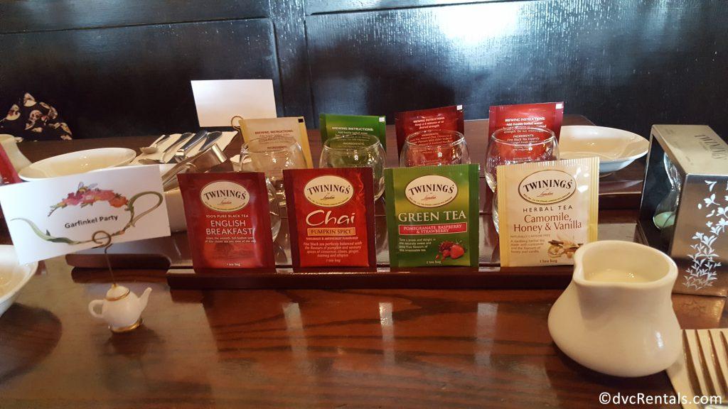 tea set up for guests