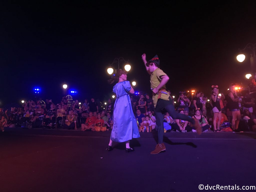 Peter Pan and Wendy in the Boo-to-You Parade
