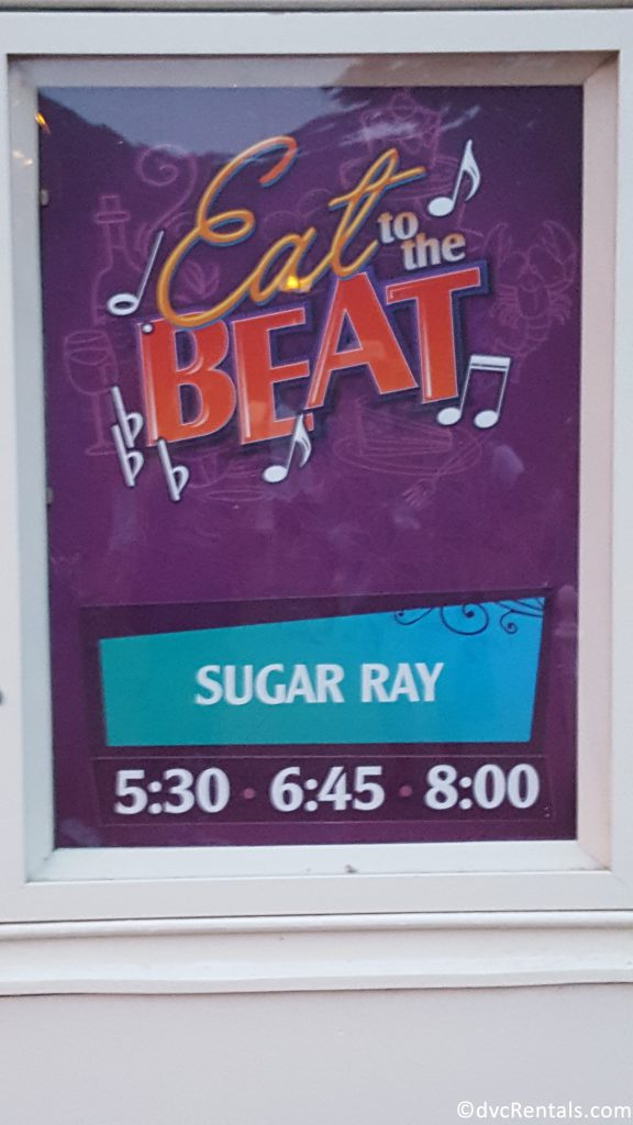 Eat to the Beat Concert Sign