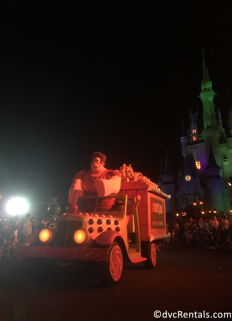 Wreck-it Ralph in the Boo-to-You parade