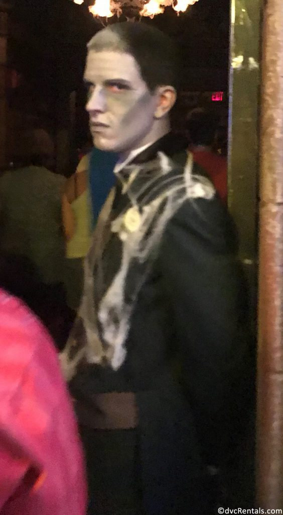 Haunted Mansion cast members dressed up for the MNSSHP