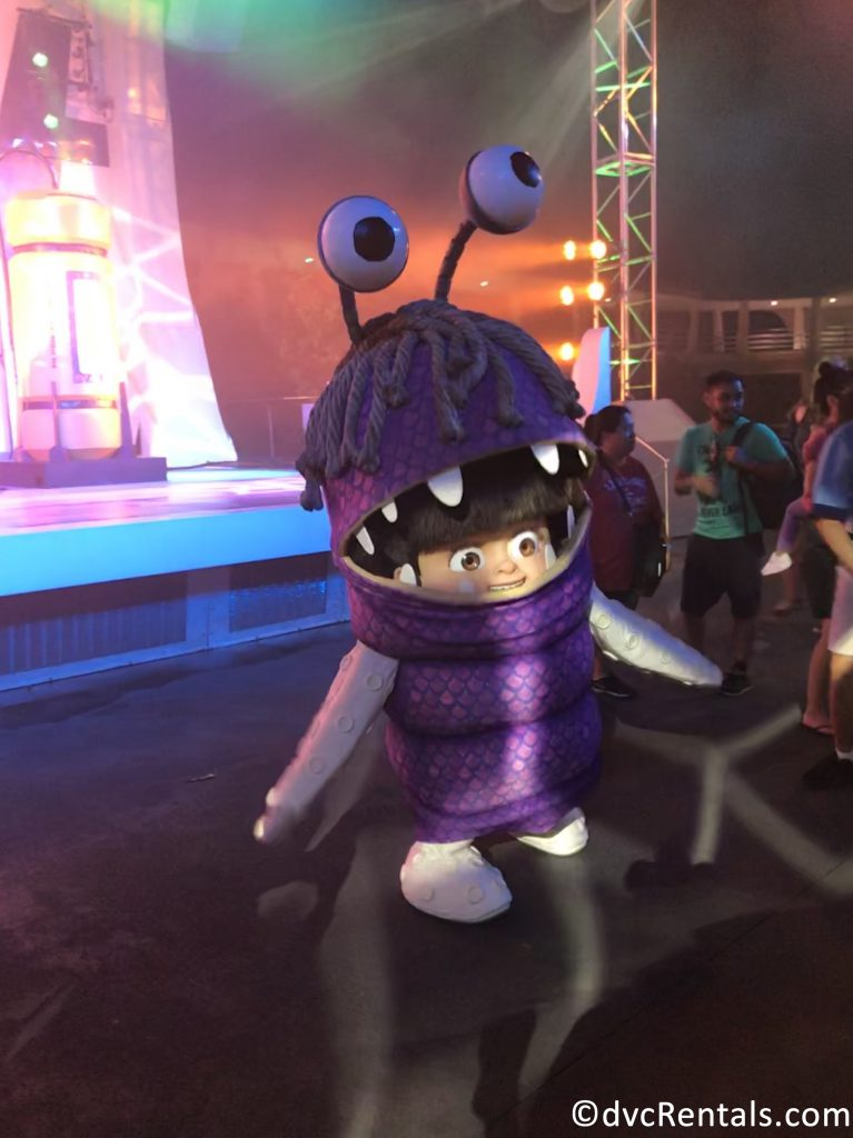 Boo at the Monsters Inc Dance Party