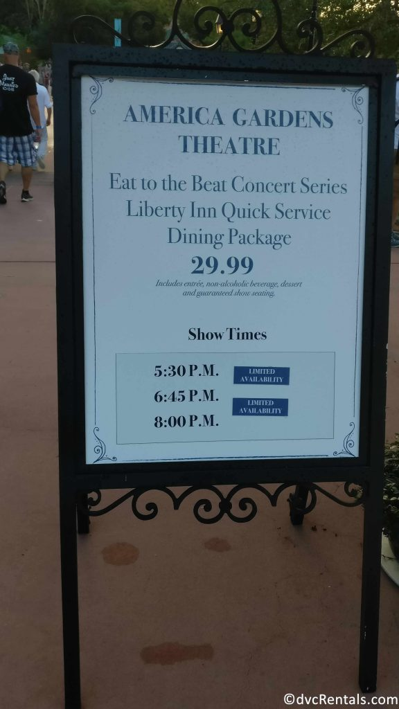 Food and Wine Eat to the Beat Concert sign