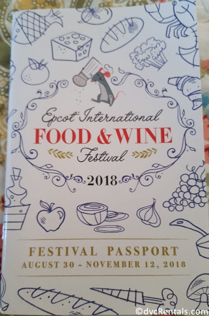 Passport for the 2018 Epcot International Food & Wine Festival