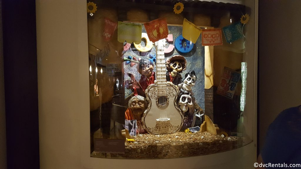 Coco display made out of chocolate