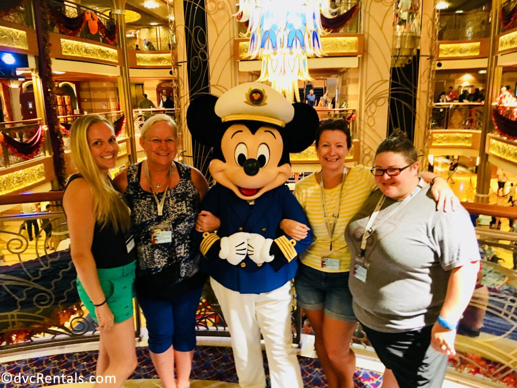 Team Members Melissa, Lindsay, Caiti and Debbie with Captain Mickey