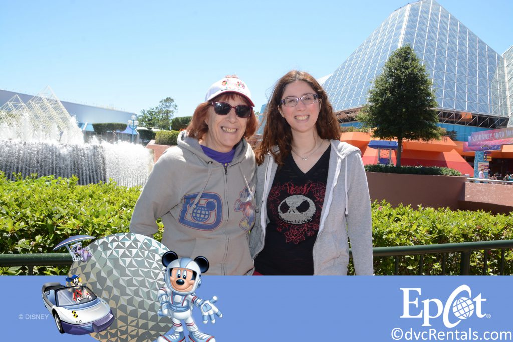 PhotoPass picture of Marilyn and her daughter at Epcot