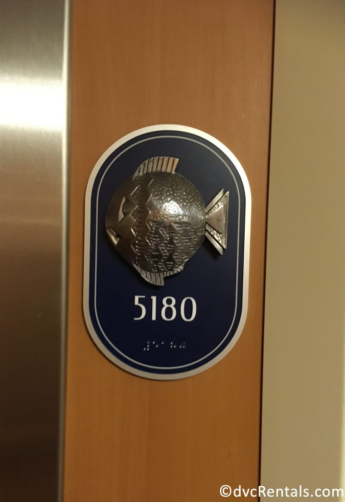 Room number on the Disney Dream with a Fish – Port Side