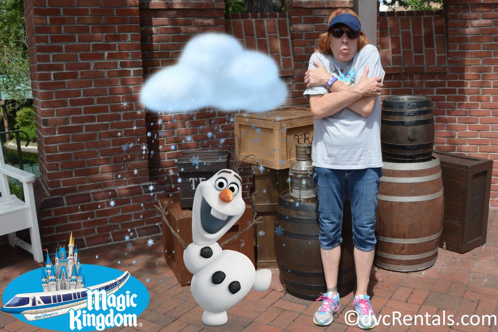 PhotoPass picture of Marilyn at Magic Kingdom in a Magic Shot with Olaf