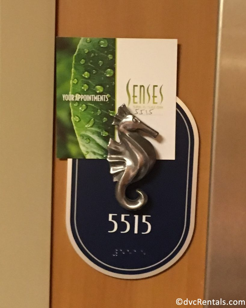 Room number on the Disney Dream with a Seahorse – Starboard Side