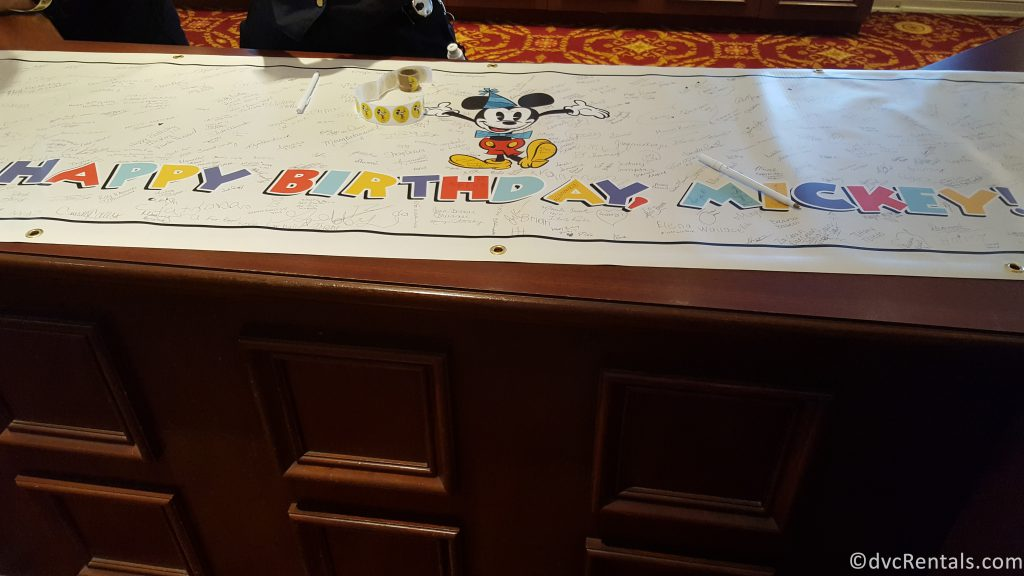 giant birthday card for Mickey Mouse