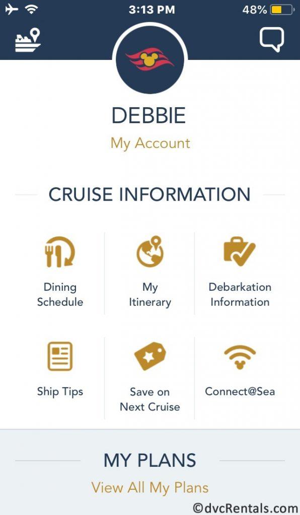 screenshot of DCL's Navigator App
