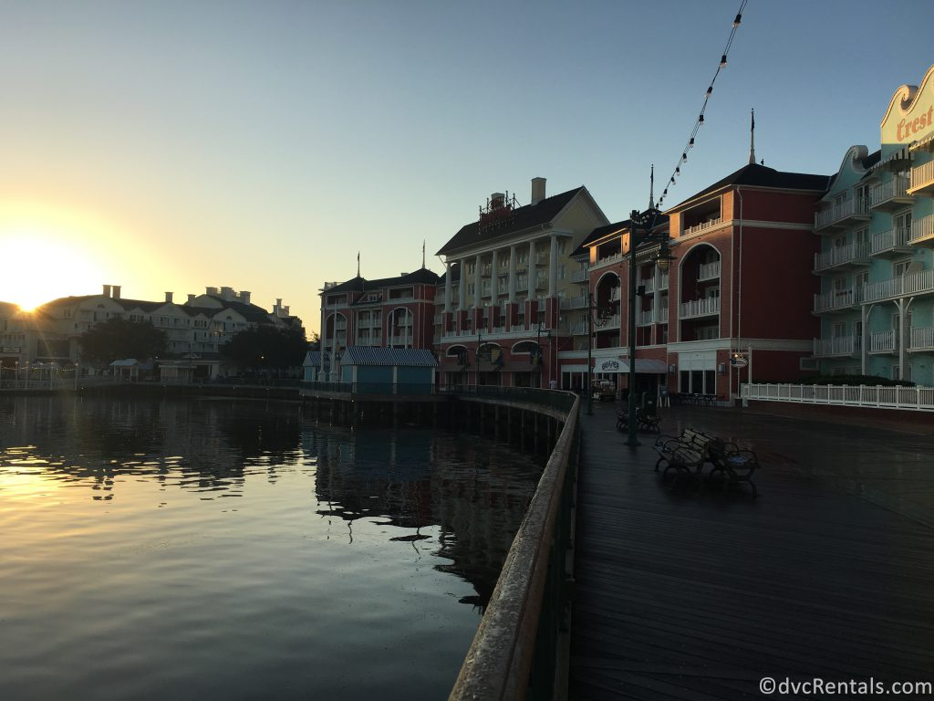 sunrise at Disney's Boardwalk