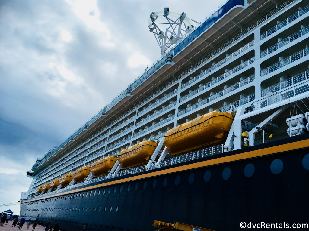 exterior picture of the Disney Dream lifeboats