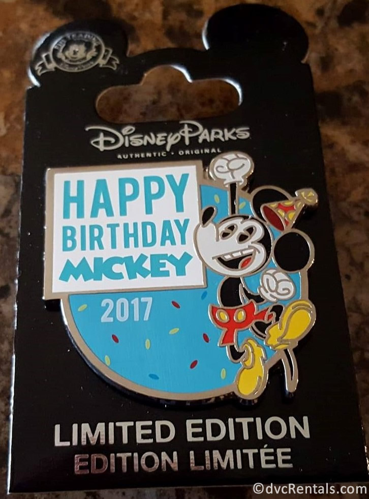 Mickey Mouse 2017 Birthday Pin