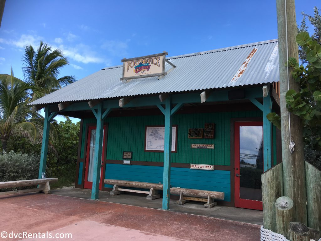 Exterior image of the Castaway Cay Post office