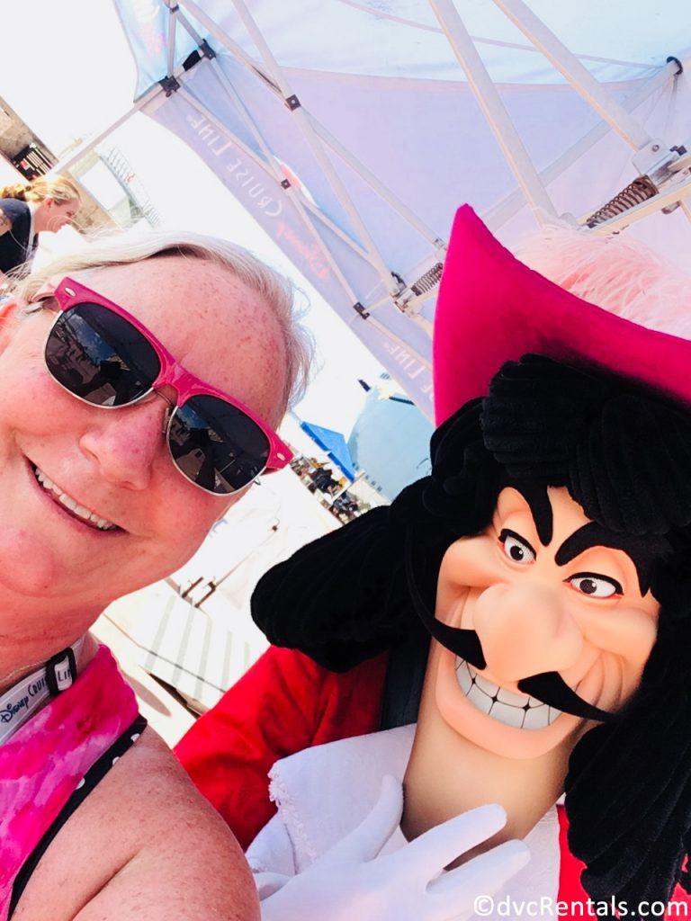 Team member Debbie with Captain Hook