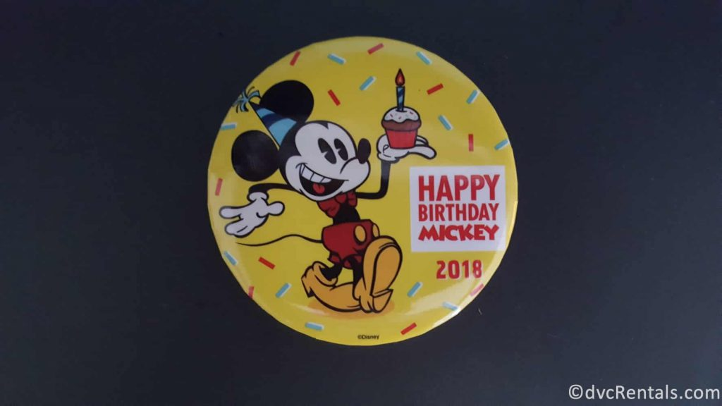 Mickey Mouse 90th Birthday Button