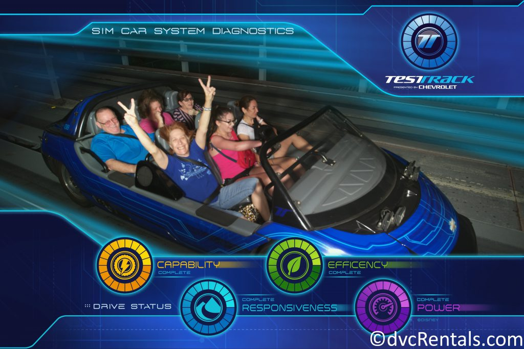 PhotoPass picture from Test Track at Epcot