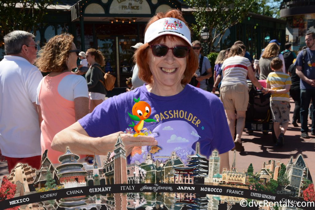PhotoPass picture with Orange Bird added in