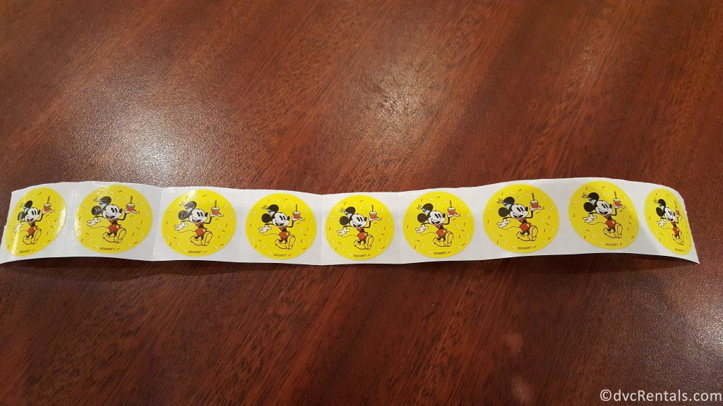 Mickey Mouse Birthday stickers