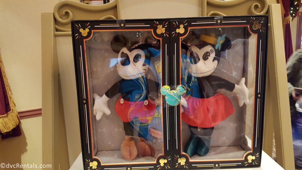 Plush toys for Mickey and Minnie Mouse