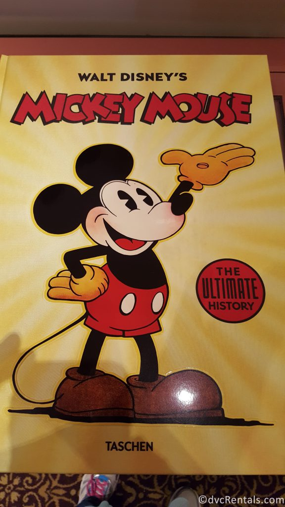 Oversized book about the history of Mickey Mouse