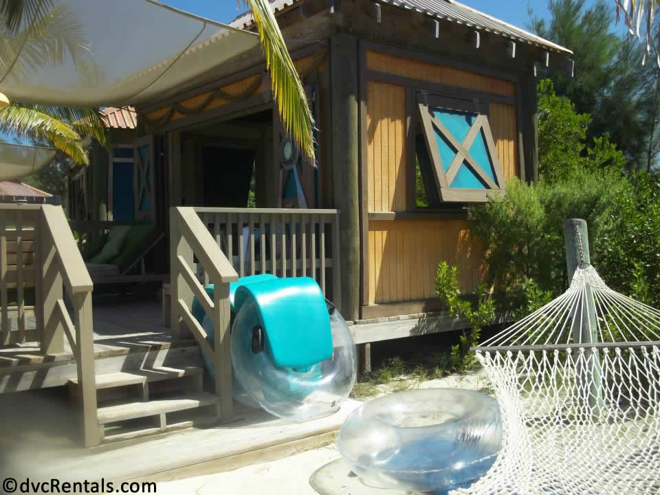 exterior picture of a cabana at Castaway Cay
