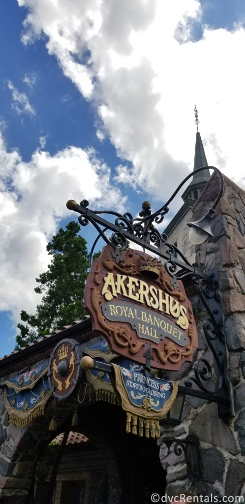 Sign for Akershus Royal Banquet Hall