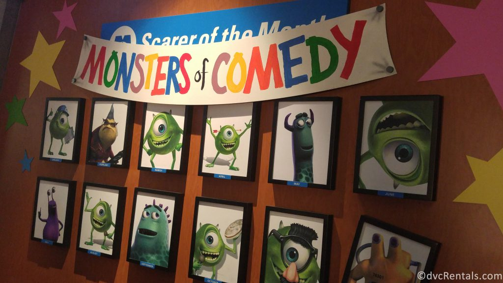 Monster's Inc Monsters of Comedy Wall of Fame