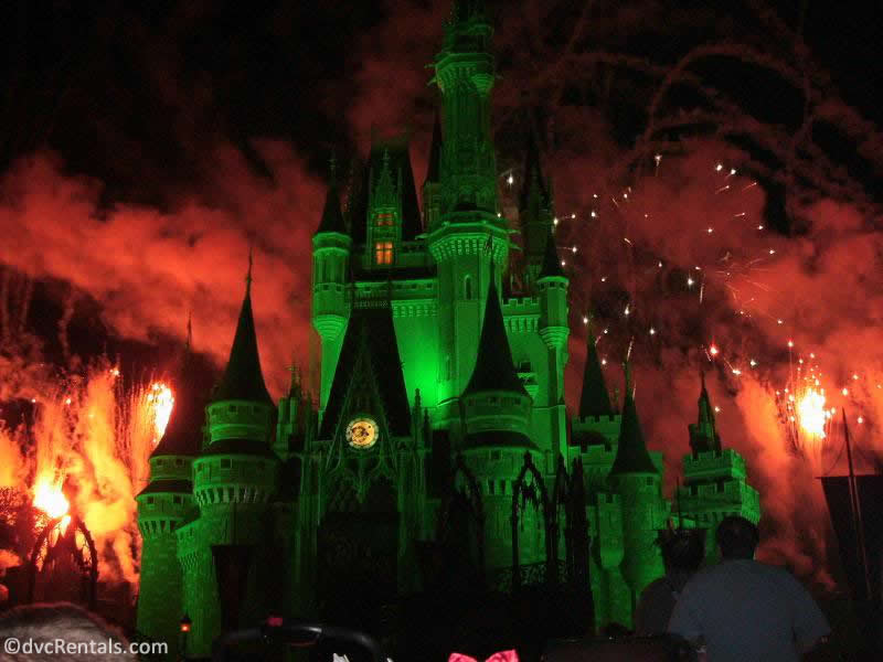 Fireworks from the Mickey's Not So Scary Halloween Party