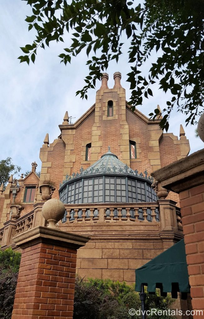 exterior shot of the Haunted Mansion