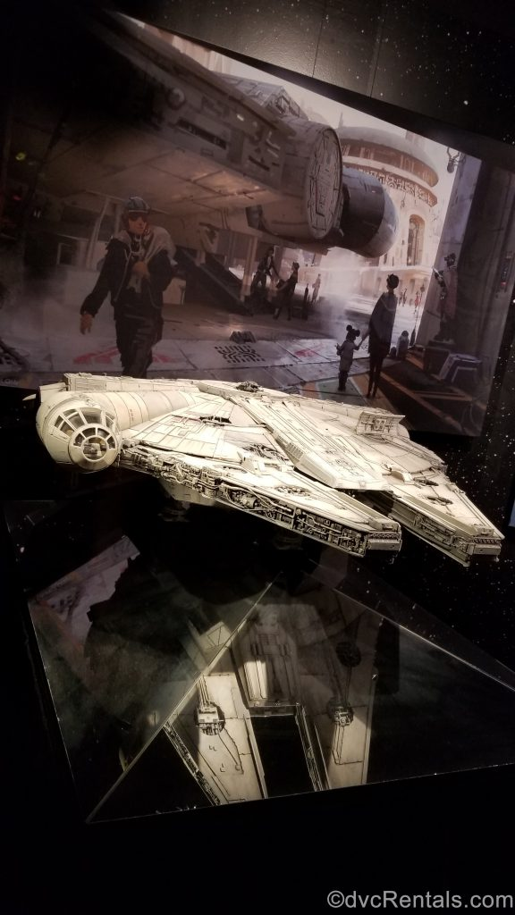model of the Millennium Falcon