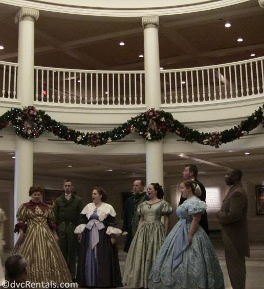 Voices of Liberty performing inside the American Pavilion at Epcot