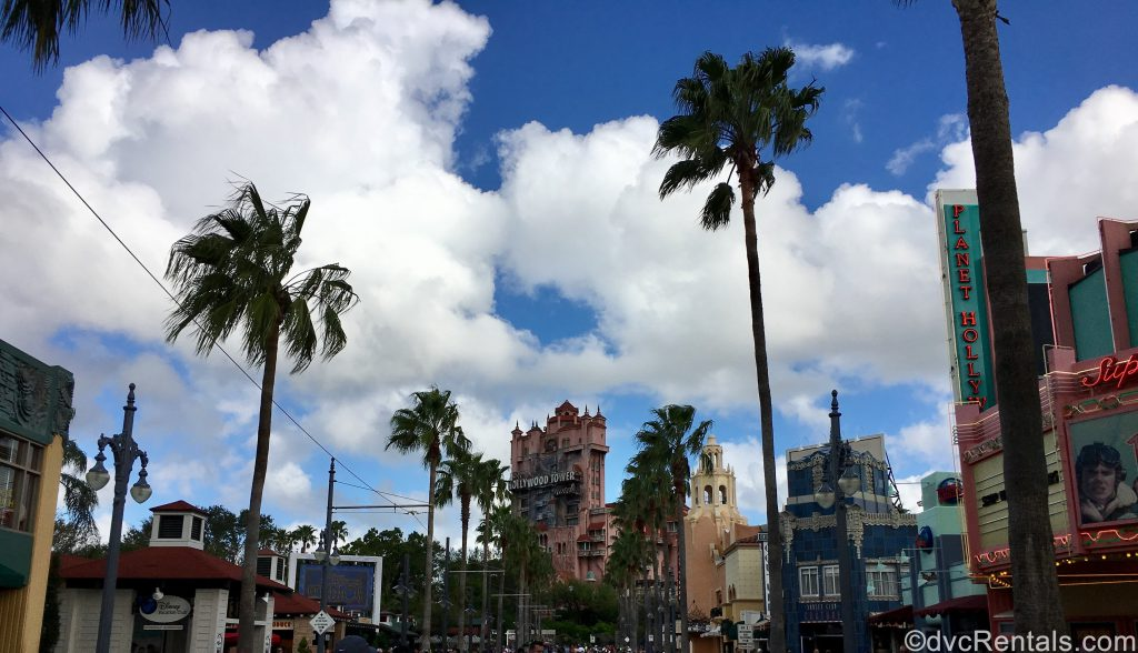Disney's Hollywood Studios with the Tower of Terror in the horizon