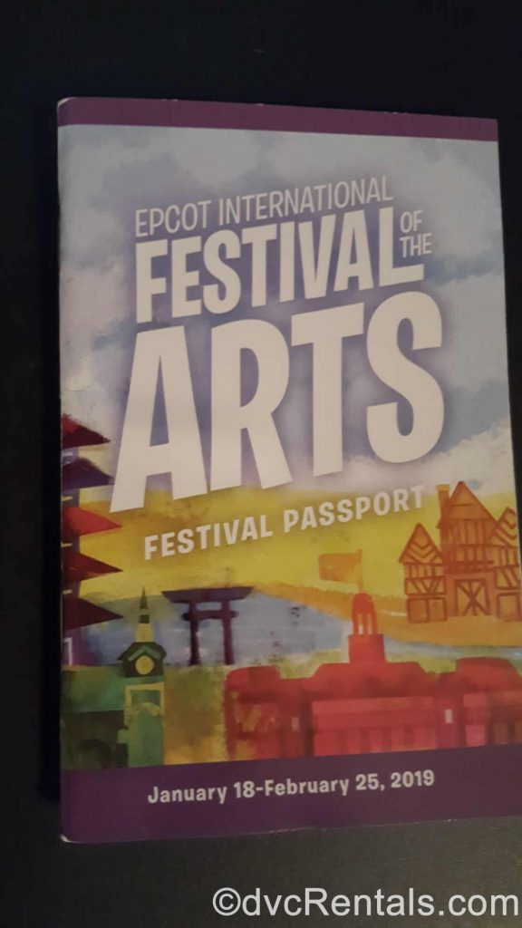 Epcot Festival of the Arts Booklet