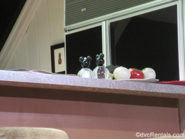 Hidden Mickey Salt and Pepper shakers from the Carousel of Progress
