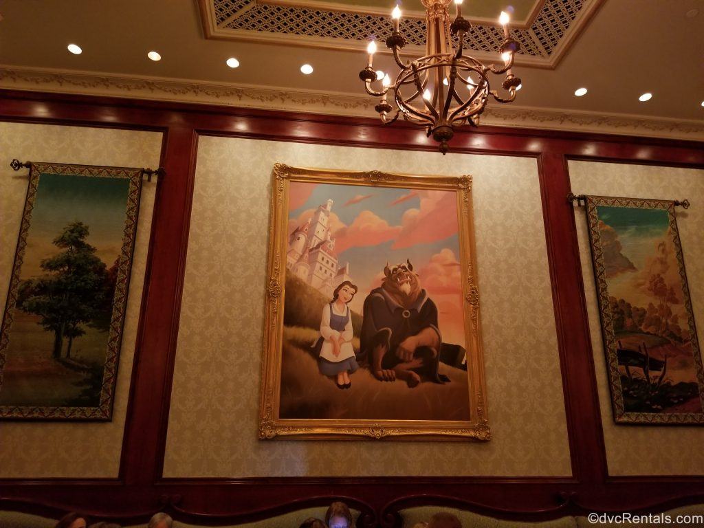 tapestry of Belle and Beast from Be our Guest