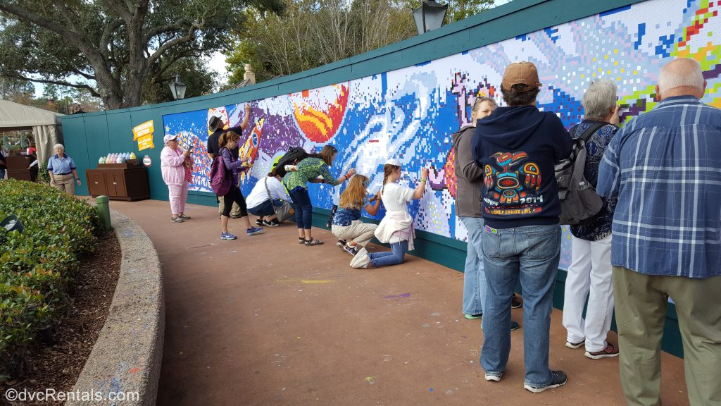 paint by numbers mural at Epcot